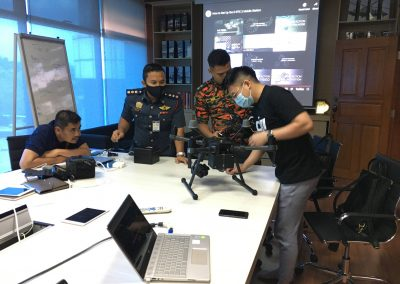 Drone inspection at DJI Academy Malaysia