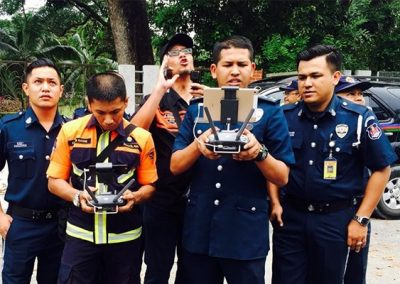 Drone inspection by police department at Drone Academy Malaysia