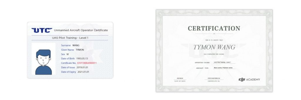 Drone Photography Course Completion Certificate
